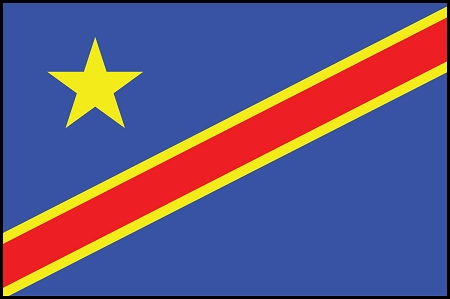 5'x8' Democratic Rep Of Congo Flag