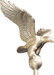 Small Flagpole Eagle