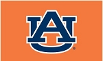 Auburn University Orange Applique Flag