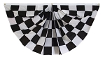 3'x6' Checkered Fan Drape