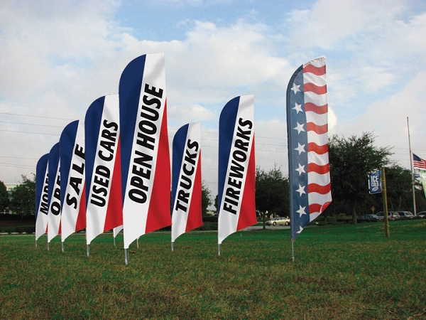 Message Tail Feather Flags