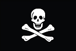 3'x5' Jolly Roger Flag