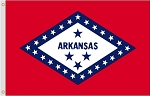 2'x3' Arkansas Nylon Flag