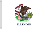 2'x3' Illinois Nylon Flag
