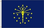 2'x3' Indiana Nylon Flag
