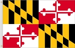 2'x3' Maryland Nylon Flag