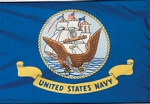 Navy Polyester Flags
