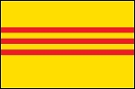 3'x5' Imported South Vietnam Flag