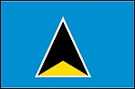 3'x5' Imported St Lucia Flag
