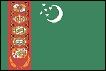 3'x5' Imported Turkmenistan Flag