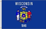 3'x5' Wisconsin Polyester Flag