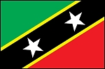 3'x5' Imported St Kitts & Nevis Flag