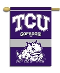 Texas Christian Horned Frogs Yard Banner