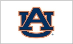 Auburn University White Applique Flag