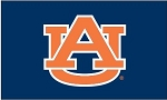 Auburn University Blue Applique Flag