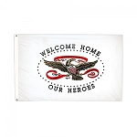 3'x5' Welcome Home Our Heroes Flag