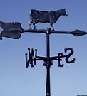 Aluminum Cow Weathervane