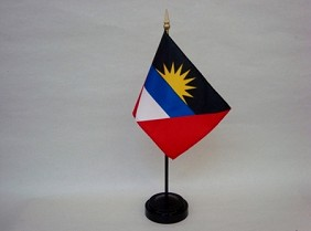 "4""x6"" Miniature Antigua & Barbuda Flag"