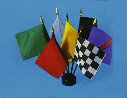 "4""x6"" Miniature Racing Flag Set"
