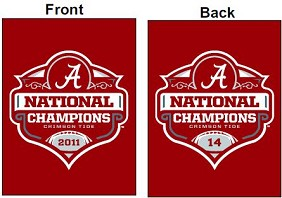 2011 BCS National Champ Yard Banner