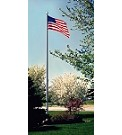 20' Cable Based Internal Halyard Flagpole
