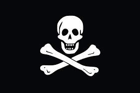 6'x10' Jolly Roger Flag