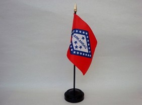 "4""x6"" Miniature Arkansas Flag"