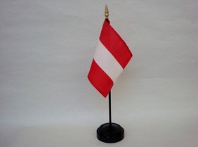 "4""x6"" Miniature Austria Flag"