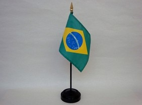 "4""x6"" Miniature Brazil Flag"