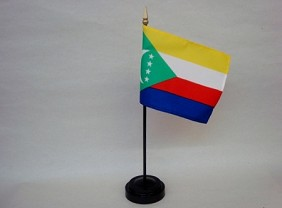 "4""x6"" Miniature Comoros Flag"