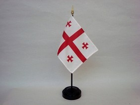 "4""x6"" Miniature Georgia Republic Flag"