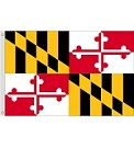3'x5' Maryland Polyester Flag