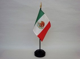"4""x6"" Miniature Mexico Flag"