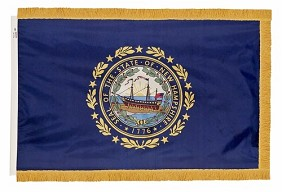 3'x5' New Hampshire Indoor Flag
