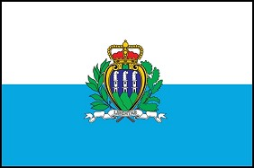 "12""x18"" San Marino Flag - No Seal"