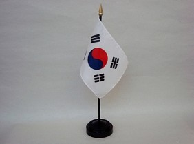 "4""x6"" Miniature South Korea Flag"