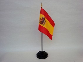 "4""x6"" Miniature Spain Flag"