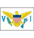 "12""x18"" US Virgin Islands Nylon Flag"