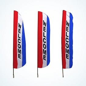 Message Feather Flags