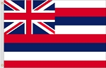 4'x6' Hawaii Nylon Flag