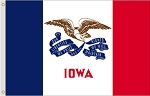 2'x3' Iowa Nylon Flag