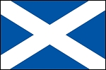 3'x5' Scotland St Andrews Cross Flag