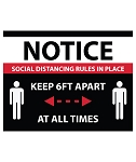 Social Distancing Window Decal