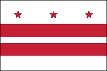 3'x5' District Of Columbia Nylon Flag