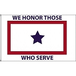 3'x5' Blue Star Service Flag - Honor