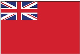 3'x5' British Red Ensign Flag