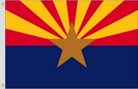 8'x12' Arizona Nylon Flag