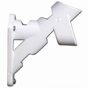 2-Way Aluminum Bracket - White