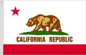4'x6' California Nylon Flag