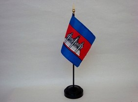 "4""x6"" Miniature Cambodia Flag"